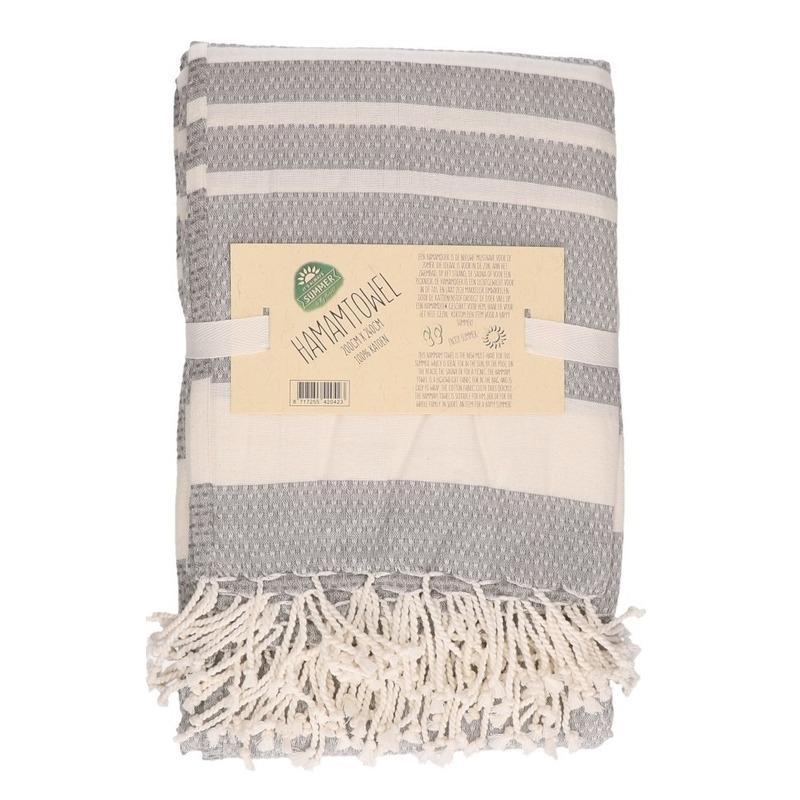 Hamam handdoek xl grijs 200 x 240 cm