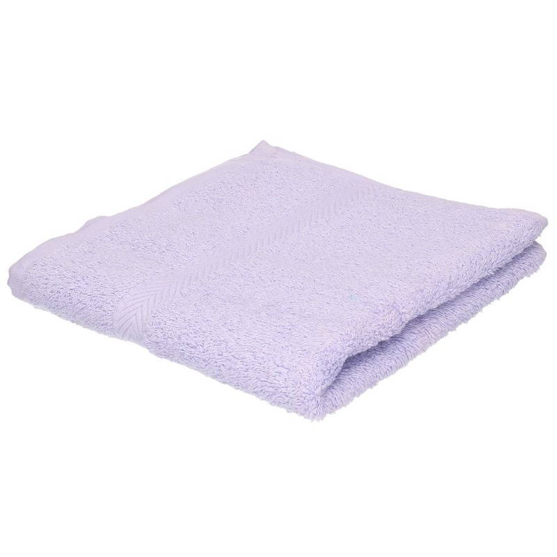 Luxe handdoeken lila paars 50 x 90 cm 550 grams