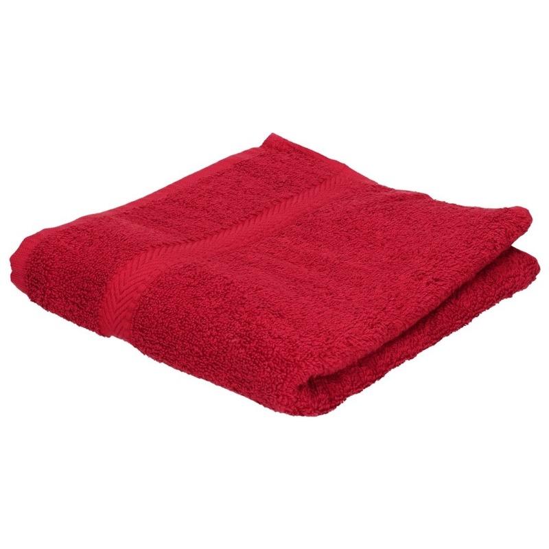 Luxe handdoeken wijnrood 50 x 90 cm 550 grams