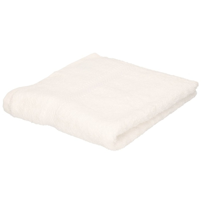 Luxe handdoeken wit 50 x 90 cm 550 grams