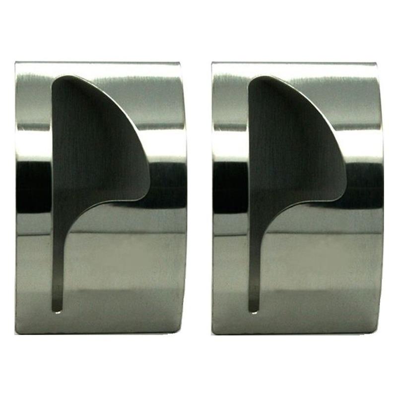 2x handdoekhaakjes handdoekhaak rvs 8 5 x 5 cm