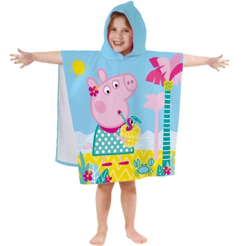 Peppa big badponcho handdoek 60 x 120 cm