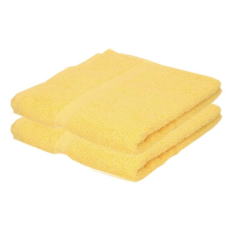 2x luxe handdoeken geel 50 x 90 cm 550 grams