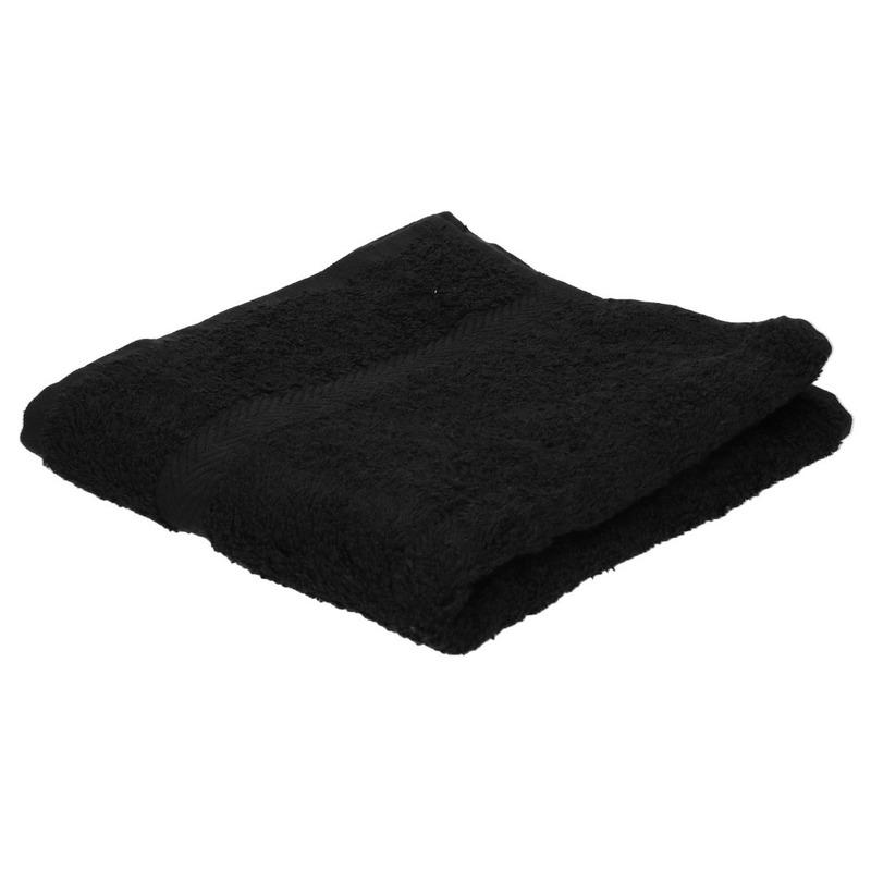 Voordelige handdoek zwart 50 x 100 cm 420 grams