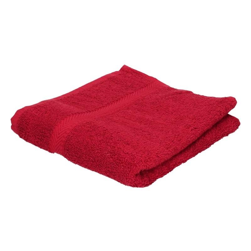 Voordelige handdoek rood 50 x 100 cm 420 grams