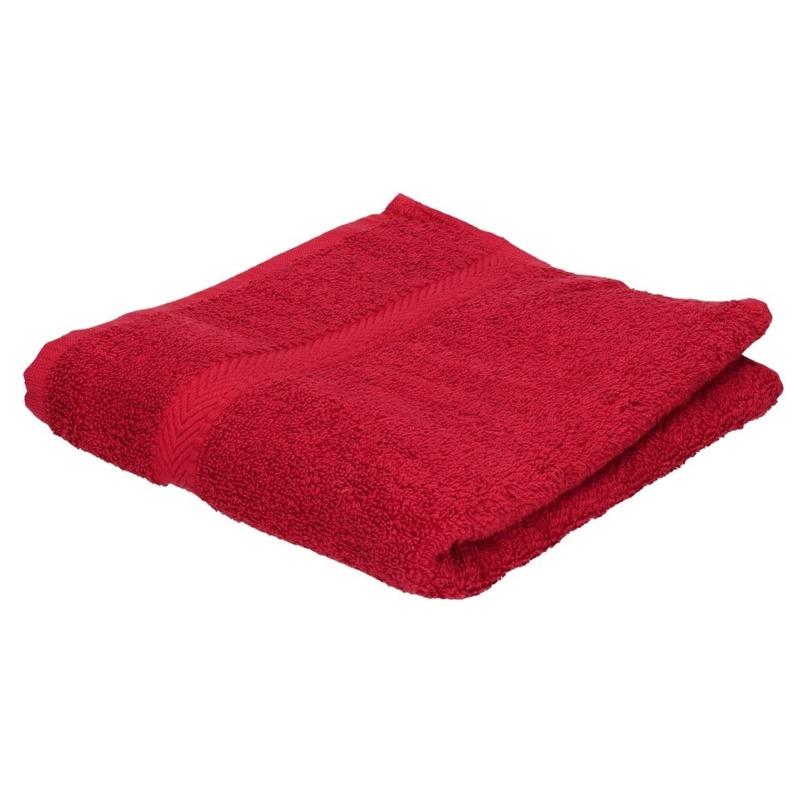Voordelige badhanddoek rood 70 x 140 cm 420 grams