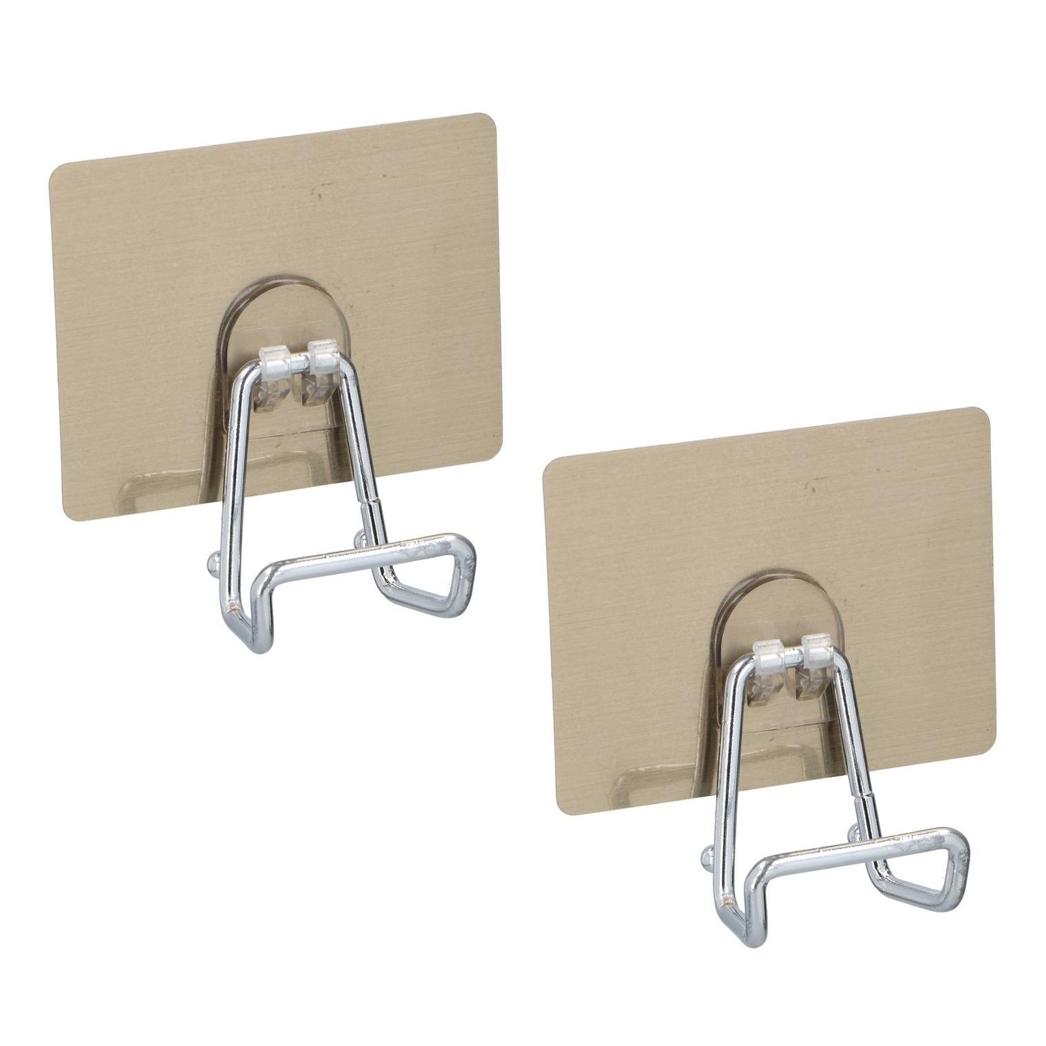 4x stuks zelfklevende badkamer handdoek ophanghaak 9 5 cm