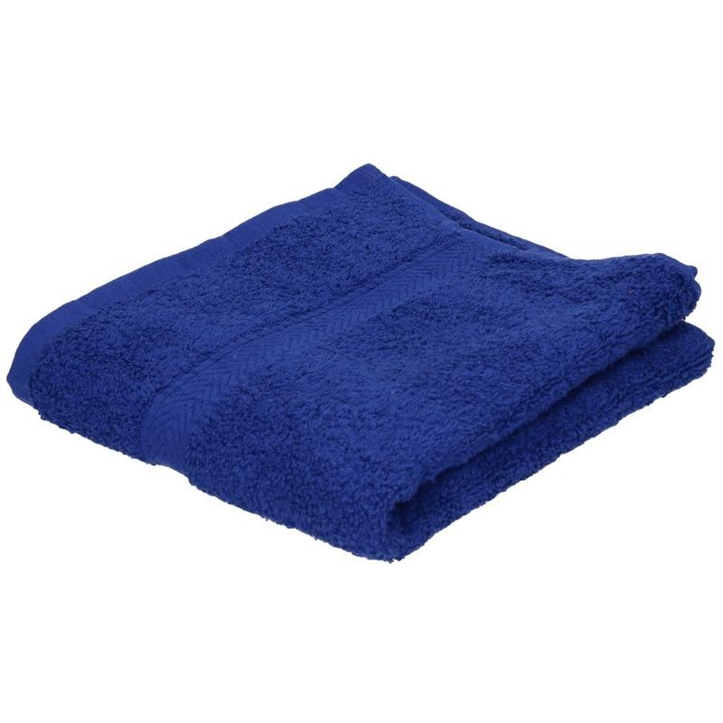 Set van 10x stuks luxe handdoeken blauw 50 x 90 cm 550 grams