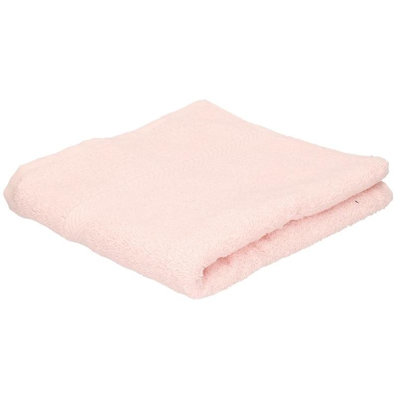 Set van 10x stuks luxe handdoeken licht roze 50 x 90 cm 550 grams