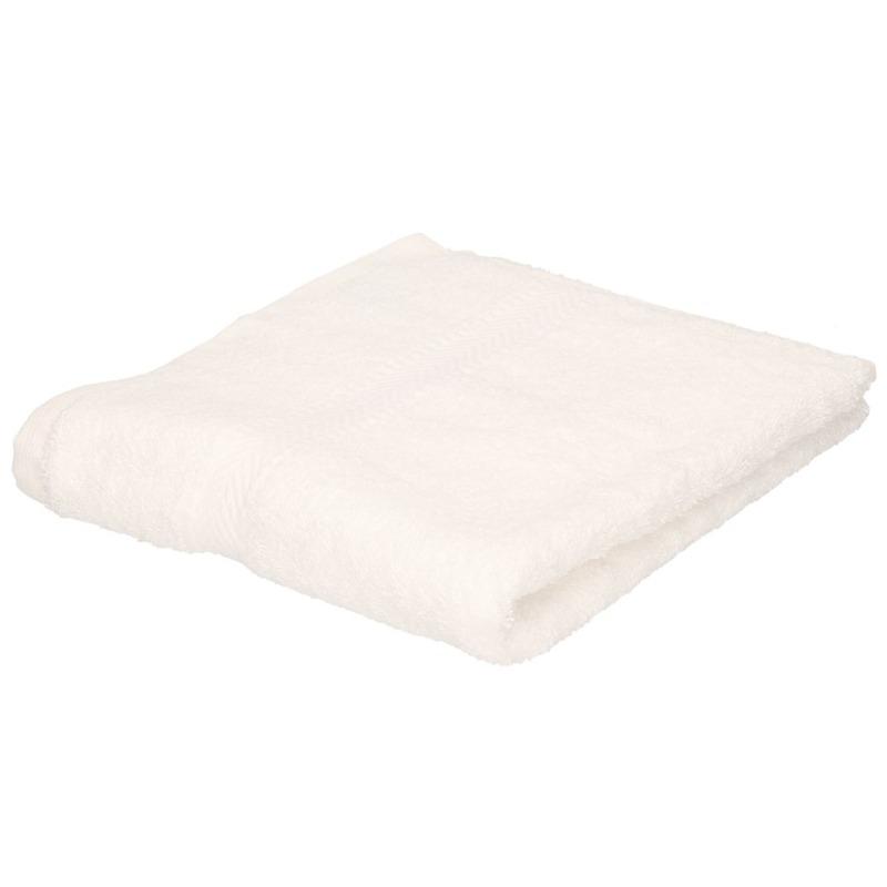 Set van 10x stuks luxe handdoeken wit 50 x 90 cm 550 grams