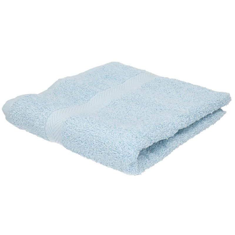 Set van 6x stuks luxe handdoeken lichtblauw 50 x 90 cm 550 grams