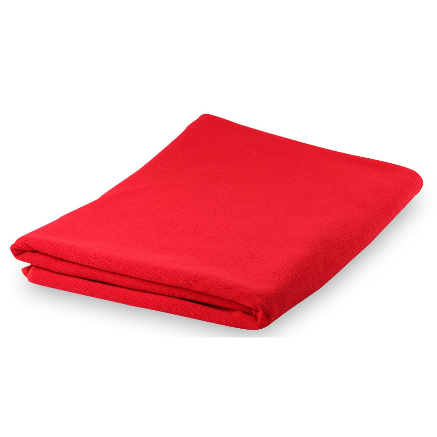 Yoga/fitness handdoek extra absorberend 150 x 75 cm rood